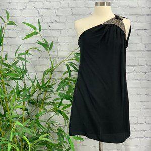 Tiff by tt Black Vintage One Shoulder Mini Dress